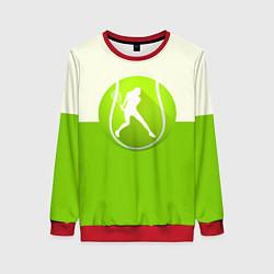 Свитшот женский Символ теннисиста цвета 3D-красный — фото 1