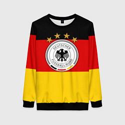 Свитшот женский Немецкий футбол цвета 3D-черный — фото 1