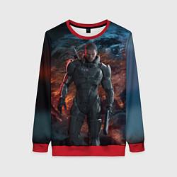 Свитшот женский Mass Effect: Soldier цвета 3D-красный — фото 1