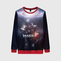 Свитшот женский Mass Effect 3 цвета 3D-красный — фото 1