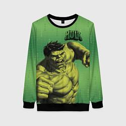 Свитшот женский Hulk цвета 3D-черный — фото 1
