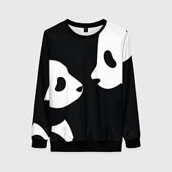 Свитшот женский Panda цвета 3D-черный — фото 1