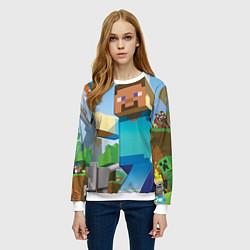 Свитшот женский Minecraft World цвета 3D-белый — фото 2