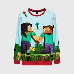 Свитшот женский Minecraft Stories цвета 3D-красный — фото 1