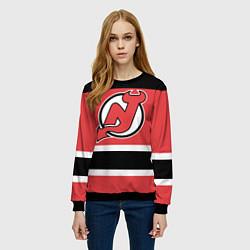 Свитшот женский New Jersey Devils цвета 3D-черный — фото 2