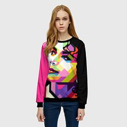 Свитшот женский Michael Jackson Art цвета 3D-черный — фото 2