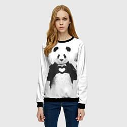 Свитшот женский Panda Love цвета 3D-черный — фото 2
