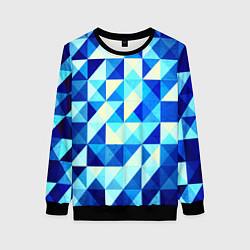 Женский свитшот Синяя геометрия
