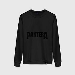 Свитшот хлопковый женский Pantera цвета черный — фото 1