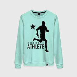 Свитшот хлопковый женский Лёгкая атлетика цвета мятный — фото 1