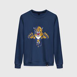 Свитшот хлопковый женский Florida Panthers цвета тёмно-синий — фото 1