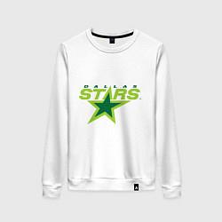 Свитшот хлопковый женский Dallas Stars цвета белый — фото 1