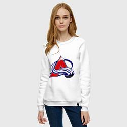Свитшот хлопковый женский Colorado Avelanche цвета белый — фото 2