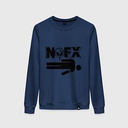 Свитшот хлопковый женский NOFX crushman цвета тёмно-синий — фото 1