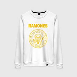 Свитшот хлопковый женский Ramones цвета белый — фото 1