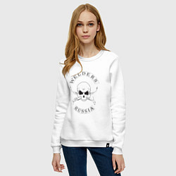 Свитшот хлопковый женский Welders Russia цвета белый — фото 2