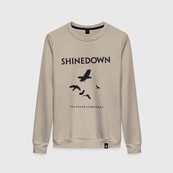 Свитшот хлопковый женский Shinedown: Sound of Madness цвета миндальный — фото 1