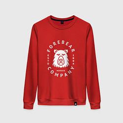 Свитшот хлопковый женский Forbear Company цвета красный — фото 1