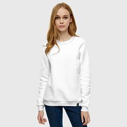 Свитшот хлопковый женский AHS цвета белый — фото 2