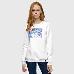 Свитшот хлопковый женский Эльбрус 5642 цвета белый — фото 2