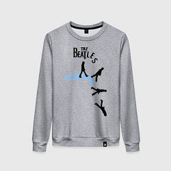 Свитшот хлопковый женский The Beatles: break down цвета меланж — фото 1