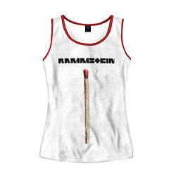 Майка-безрукавка женская Rammstein Radio цвета 3D-красный — фото 1