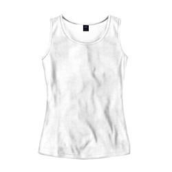 Майка-безрукавка женская Без дизайна цвета 3D-белый — фото 1