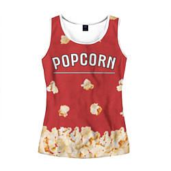 Майка-безрукавка женская Popcorn цвета 3D-белый — фото 1