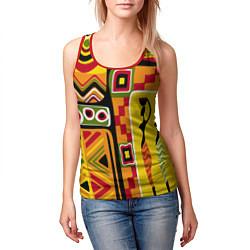 Майка-безрукавка женская Африка цвета 3D-красный — фото 2