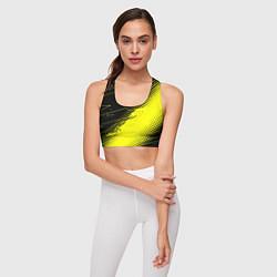 Топик спортивный женский Bona Fide Одежда для фитнеcа цвета 3D-принт — фото 2