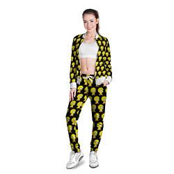 Олимпийка женская Лиза Симпсон: узор цвета 3D-белый — фото 2