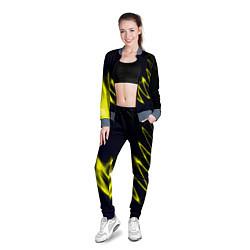 Олимпийка женская Молния цвета 3D-серый — фото 2
