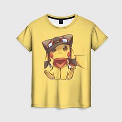 Футболка женская Pikachu цвета 3D-принт — фото 1