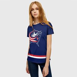 Футболка женская Columbus Blue Jackets цвета 3D-принт — фото 2