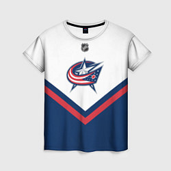 Футболка женская NHL: Columbus Blue Jackets цвета 3D — фото 1