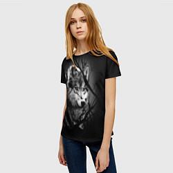Футболка женская Серый волк цвета 3D — фото 2