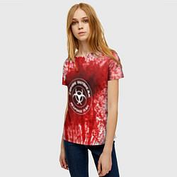 Футболка женская Zombie Outbreak цвета 3D — фото 2