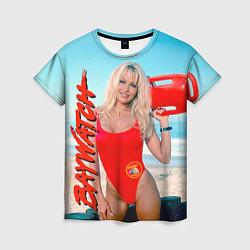 Футболка женская Baywatch: Pamela Anderson цвета 3D — фото 1