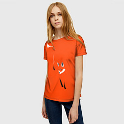 Футболка женская Лисица цвета 3D — фото 2