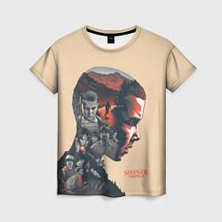Женская 3D-футболка с принтом Stranger Things, цвет: 3D, артикул: 10140032103229 — фото 1