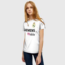 Футболка женская FC Real Madrid: Beckham Retro цвета 3D-принт — фото 2