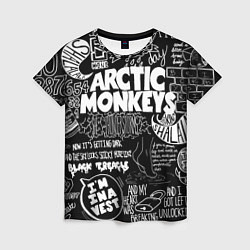 Футболка женская Arctic Monkeys: I'm in a Vest цвета 3D-принт — фото 1