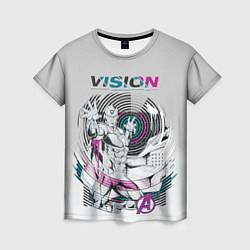 Футболка женская Vision Neon цвета 3D-принт — фото 1