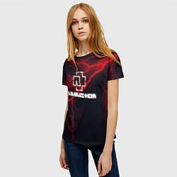 Футболка женская Rammstein цвета 3D — фото 2
