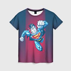 Футболка женская Superman цвета 3D — фото 1