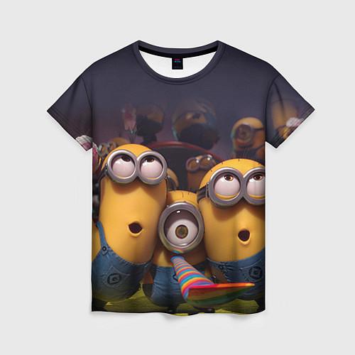 Женская футболка Вечеринка миньонов