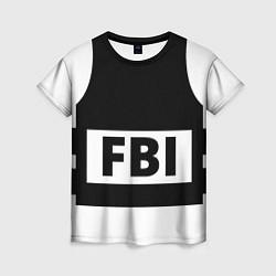 Футболка женская Бронежилет FBI цвета 3D — фото 1