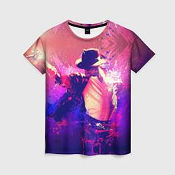 Футболка женская Michael Jackson: Moon цвета 3D — фото 1