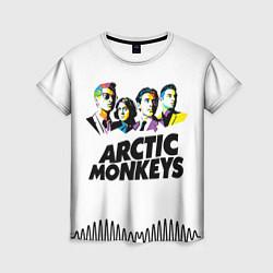 Футболка женская Arctic Monkeys: Music Wave цвета 3D-принт — фото 1