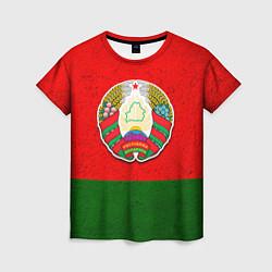 Футболка женская Герб Беларуси цвета 3D — фото 1